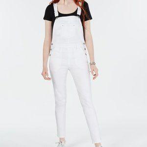 American Rag Skinny Denim Overalls Optic White 11
